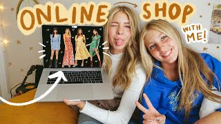 come *online shopping* with me for a school dance!
