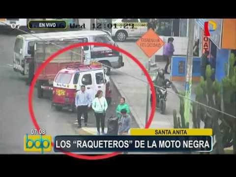 Cámaras de seguridad captan a peligrosos 'raqueteros' en Santa Anita (1/2)