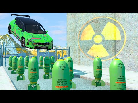 EXPERIMENT - Cars vs Nuclear Bombs #18 - BeamNG.Drive CrashTherapy