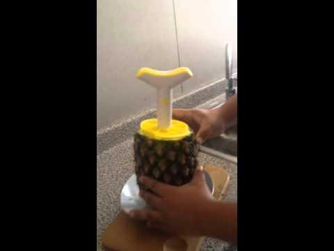 Súper video demostrativo del uso del cortador de Piña