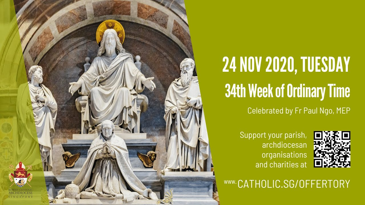 Catholic Weekday Mass Today Online Tuesday 24th November 2020, Catholic Weekday Mass Today Online Tuesday 24th November 2020