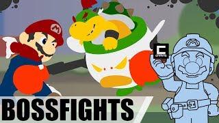 6 Crazy Bowser Jr. Boss-Encounters in Super Mario Maker.