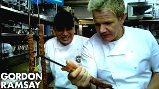'You need practice man' - Gordon Ramsay Learns to Make Kebabs
