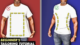 How To Make YOUR T-Shirts SLIM FIT