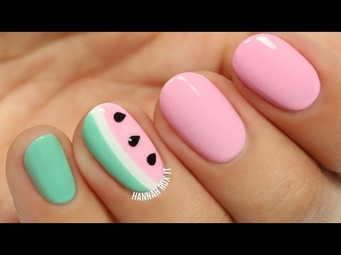 Cute Watermelon Nail Art