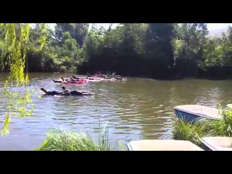 El Numancia de Arrasate entrena en el Río Duero