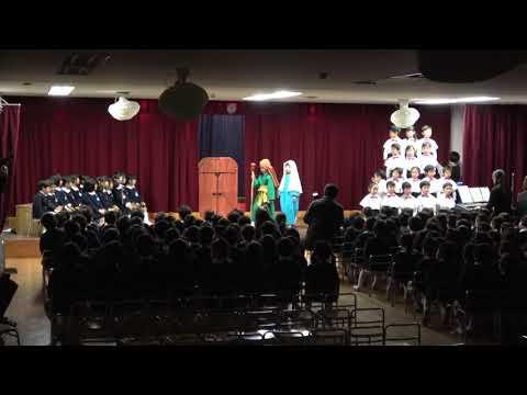 2018年12月14日広島暁の星幼稚園クリスマス会1聖劇