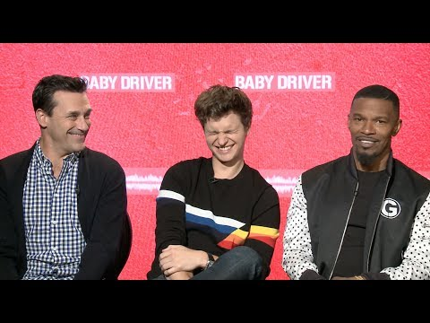 Jamie Foxx does Quincy Jones impression during BABY DRIVER interview with Jon Hamm and Ansel Elgort