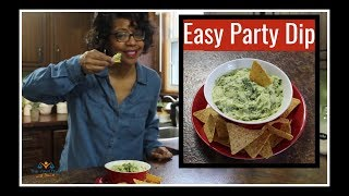 Easy Holiday Appetizers | Creamy Avocado Artichoke And Kale Dip | Best Party Dip Ever