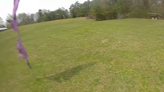 DJI Air Unit Flywoo Mr Crocc Hitting Flag At 85 mph Bounced Up In The Trees FPV