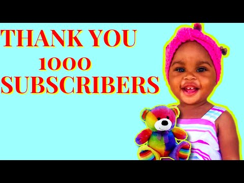 Thank you 1k subscribers