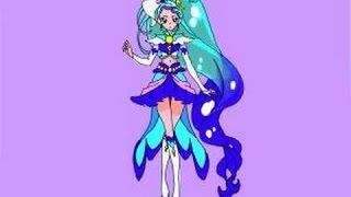 Minami Kaido  - (Go! Princess PreCure) - How to draw Cure Mermaid, Minami Kaido from Go Princess PreCure