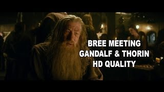 The Hobbit : the Desolation of Smaug - Bree Meeting : Thorin, Gandalf [HD]