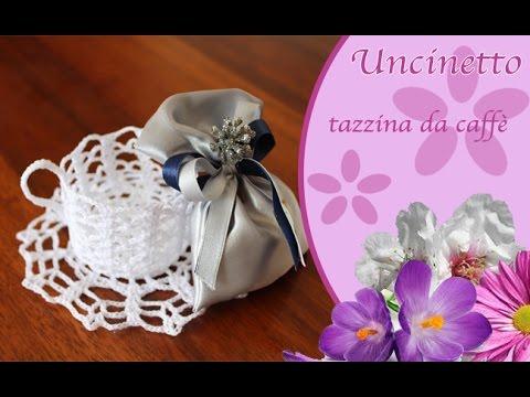 Uncinetto : tazzina da caffè bomboniera - how to do coffee cup favor