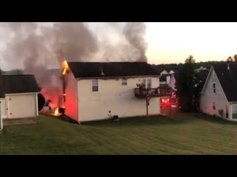 House on fire in Lithonia GA 9/25/2017