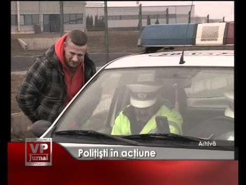 Poliţişti în acţiune