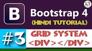Grid System - Bootstrap 4 Tutorial in Hindi | Responsive Web Designing
