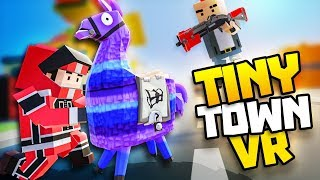 RACE FOR THE LLAMA IN TOMATO TOWN! - Tiny Town VR Gameplay Part 56 - VR HTC Vive Gameplay