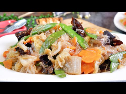 Super Easy Buddha's Delight 罗汉斋 Vegetarian Stir Fry Mixed Vegetable Recipe – Luo Han Zhai