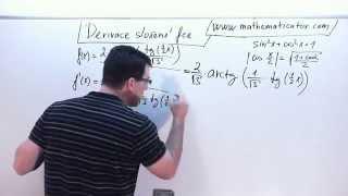 Derivace - Derivace složené funkce - tg a arctg 22. 10. 2014