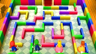 Mario Party 10 - Master Difficulty - Mario vs Luigi vs Peach vs Daisy - Minigames