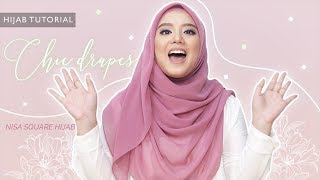 Chic Drapes Hijab Tutorial Using NISA Square Hijab