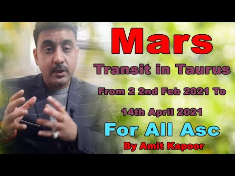 Mars Transit in Taurus ♉ From 22nd Feb 2021 To 14th April 2021 For All Ascendant ( IN HINDI )