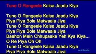 Tune O Rangeele Kaisa Jaadu Kiya Lata Mangeshkar Hindi Full Karaoke With Lyrics