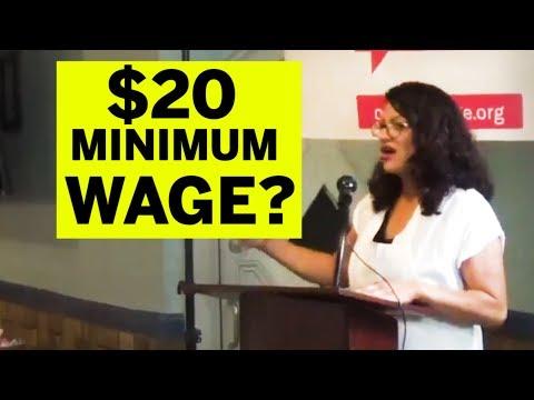 Rashida Calls for $20 Minimum Wage