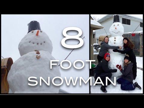 Building a HUGE Snowman