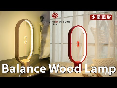 Cool Balance Wood LED Lamp