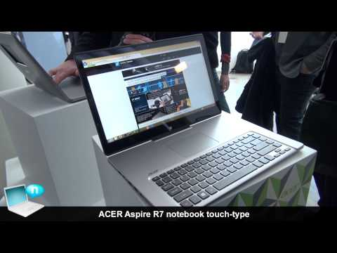 Acer Aspire R7 notebook touch-type