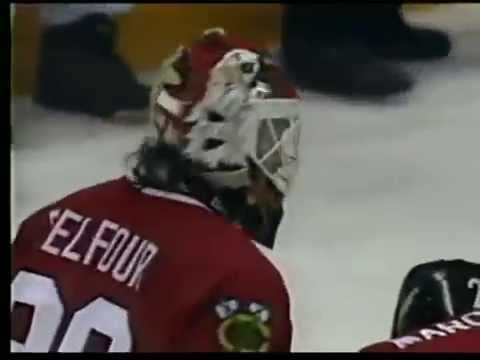 Ed Belfour Goes Nuts After a Controversial Goal (Apr. 25, 1993)