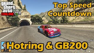 Fastest Sports Cars (Hotring Sabre & GB200) - GTA 5 Best Fully Upgraded Cars Top Speed Countdown