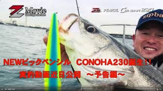 NEWビックペンシル  CONOHA230誕生!! 実釣動画近日公開 ~予告編~