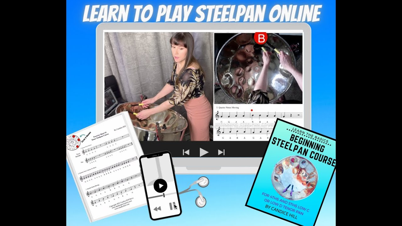 Beginning Steelpan Course for Low C or D Tenor