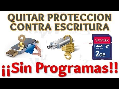 Tutorial Como Quitar Proteccion Contra Escritura de Disco Duro o Memoria USB | Método 1