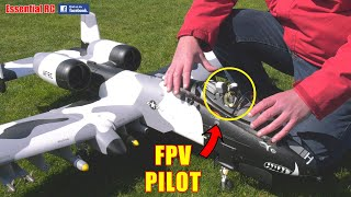 A-10 WARTHOG FROM THE COCKPIT | RC JET PAN & TILT HEAD TRACKED DJI FPV PILOT FIGURE CONVERSION