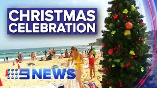Sydneysiders celebrate Christmas in 'Aussie' style | Nine News Australia
