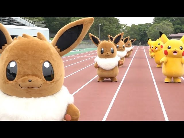 Watch Pikachu And Eevee Battle It Out On Pokemon Sports Day