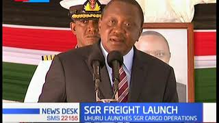 President Uhuru launches SGR cargo operations easing cargo haulage to other counties