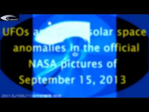 UFOs and Giant solar space anomalies in the official NASA pictures of September 15, 2013