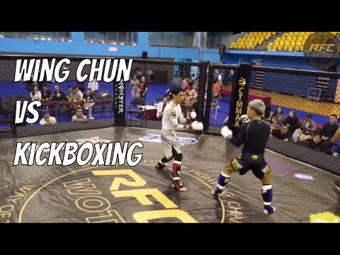 Wing Chun vs Kickboxing - Wing Chun Wins Match (Qi La La)