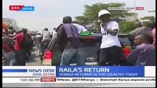 NASA leader Raila Odinga jets in the country to a massive welcome by loyal supporters