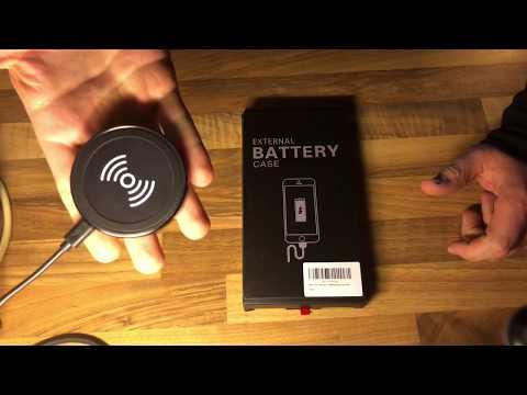 Batterie Case WELUV für Apple iPhone 8 7 6 6s Akku Hülle inkl. QI Standard unboxing und Anleitung