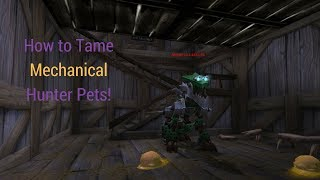 How to tame mechanical pets - Legion