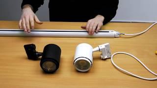 Videó: V-TAC PRO Sínes LED lámpa (3in1 színhőm.) - 18 Watt (20-60°)
