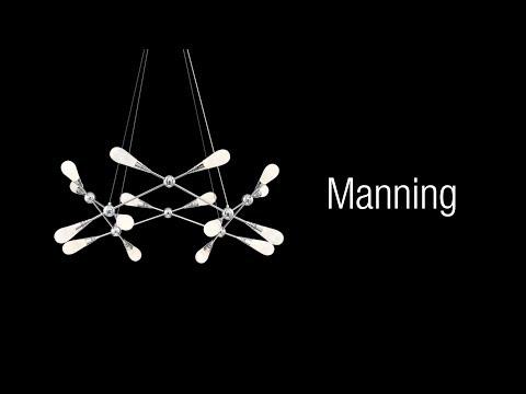 Video for Manning Chrome Four-Light LED Pendant