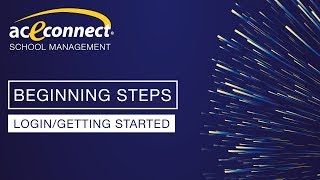 aceconnect School Management: Login/Getting Started