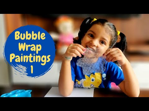 Bubble Wrap Painting | Bubble Wrap Art and Craft | Part 1